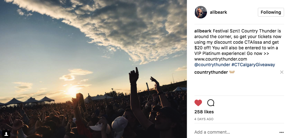 How one of the largest music festivals in North America experienced 9x ROI through the use of micro-influencers (Infographic)
